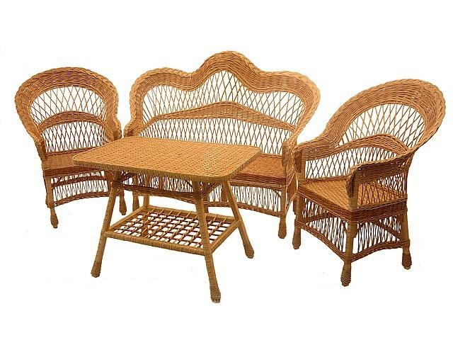 """Комплект плетеной мебели из лозы """"Капля"""""""