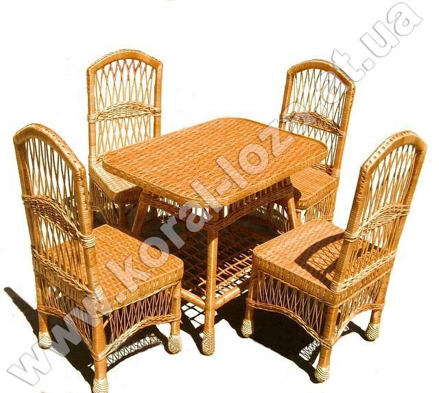 Плетеная мебель из лозы (кресла без подлокотников)