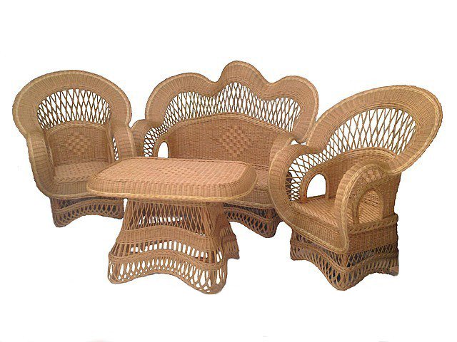 "Плетені вироби - набор плетеной мебели ""элит""."