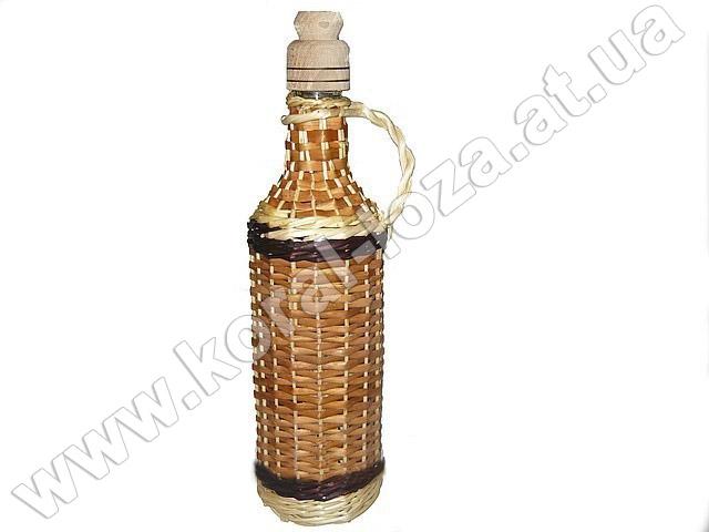 Бутылка оплетеная лозой 1л