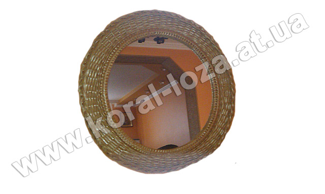 Зеркало круглое оплетеное лозой