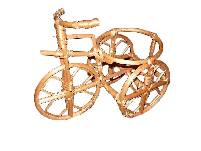 """Цветочник-подставка """"велосипед"""" из лозы"""