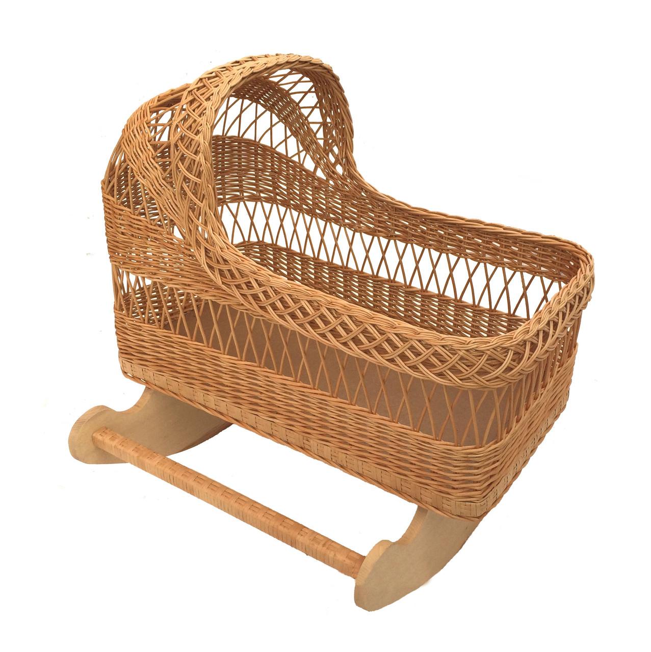 Плетеная люлька, колыбель из лозы для ребёнка