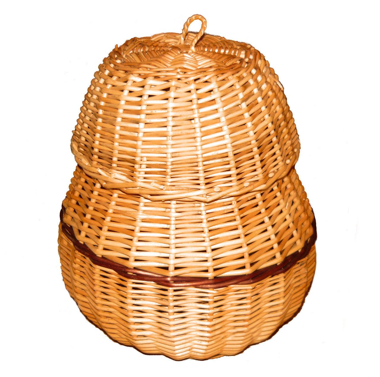 Шкатулка плетеная из лозы