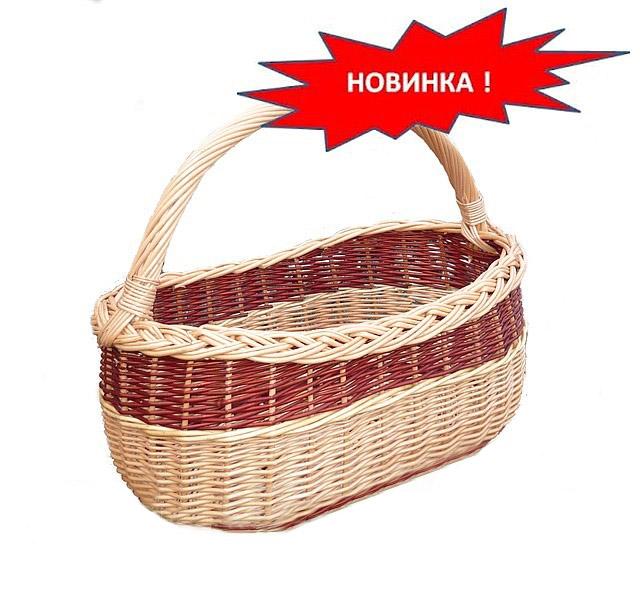 """Корзины из лозы хозяйственные """"модница с косичкой"""""""