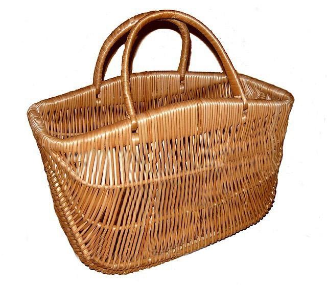 "Плетеная сумка корзина ""с горбиком"""