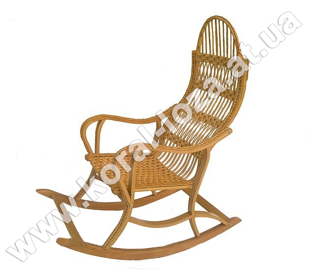 Плетеное Кресло-качалка из лозы