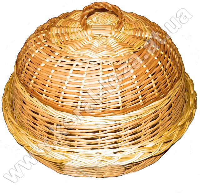 Хлебница круглая из лозы