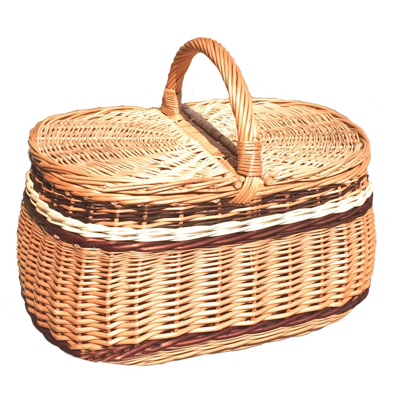 """Корзина для пикника """"багажовая большая"""""""
