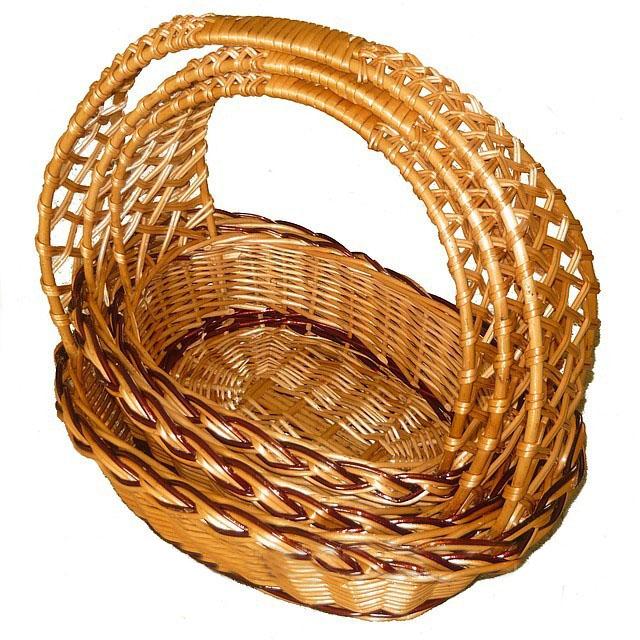 Набор плетеных корзин «Кобра» овальная