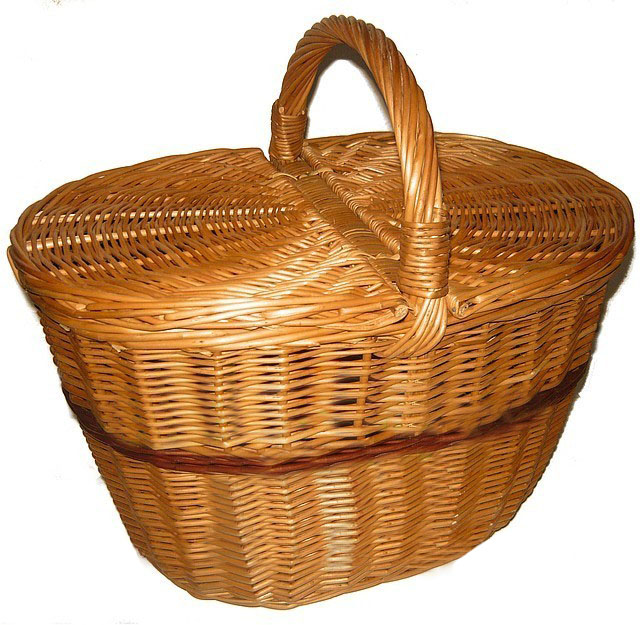 "Плетеная корзина для пикника ""феделканя"""